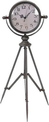 Ceas cu trepied Lyon din metal negru 59 cm