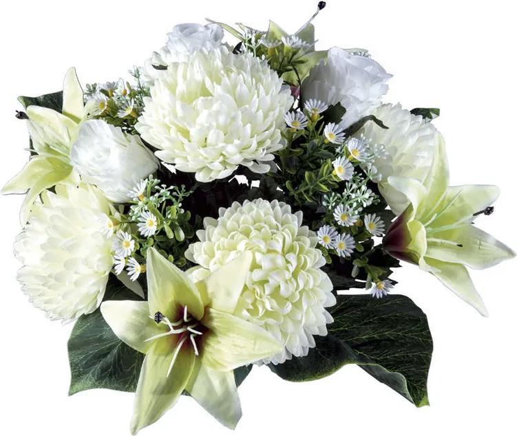 Buchet de flori de toamnă cu crizanteme