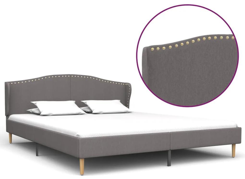 280650 vidaXL Cadru de pat, gri deschis, 160 x 200 cm, material textil