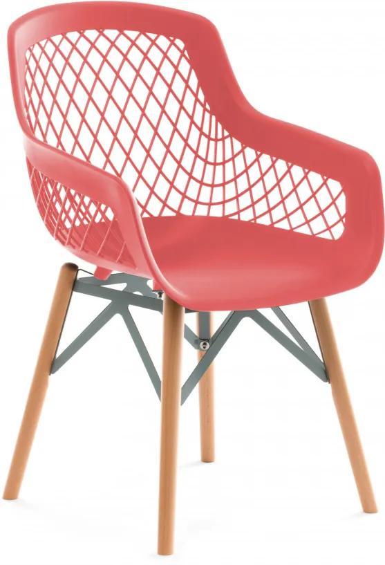 Set 4 scaune Minimalist rosii
