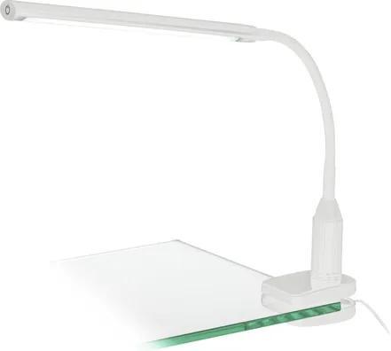 Lampa de birou cu LED integrat Laroa 4,5W 550 lumeni, alba, cu clema de fixare