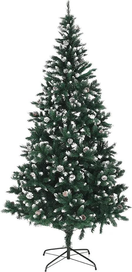Brad cu conuri, cu zăpadă, 220 cm, CHRISTMAS TYP 4