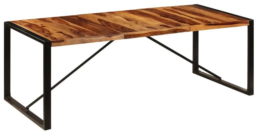 247410 vidaXL Masă de bucătărie, 220x100x75 cm, lemn masiv de sheesham