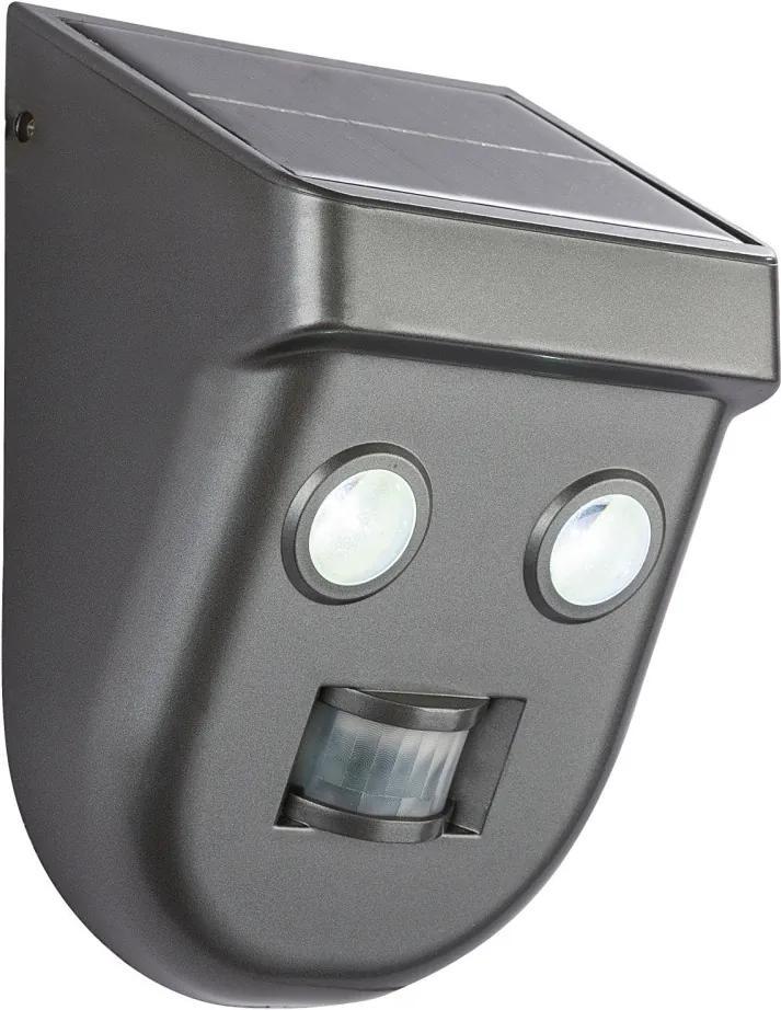 Globo SOLAR 3728S Aplice perete cu senzor antracit plastic LED - 1 x 3W 180lm 6500K IP65