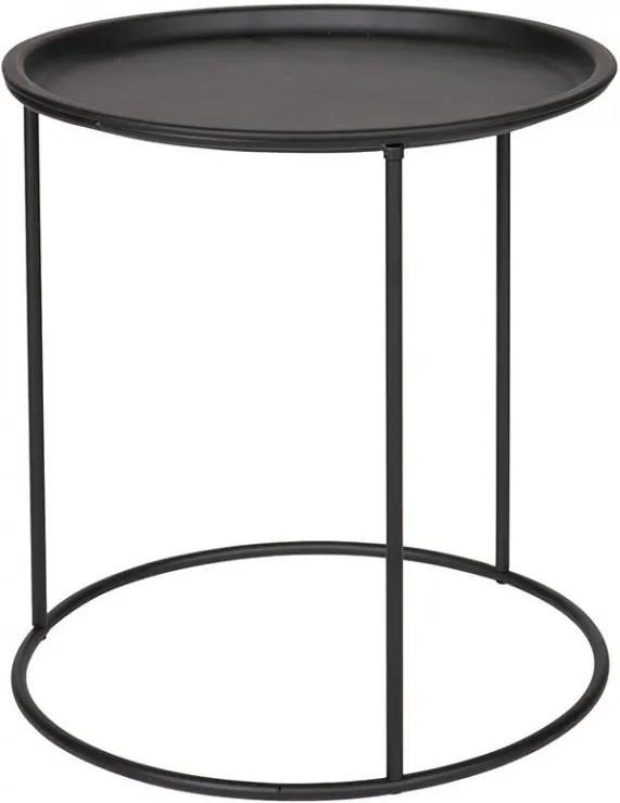 Masuta neagra din metal 40 cm Ivar
