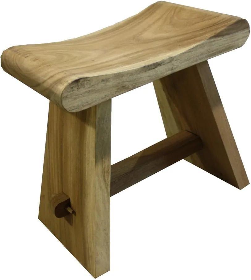 Taburet din lemn de mungur HSM collection Rondo