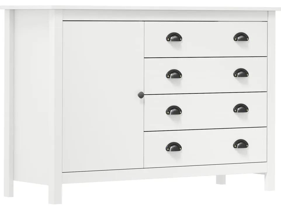 288972 vidaXL Servantă Hill Range, alb, 120 x 40 x 80 cm, lemn masiv de pin