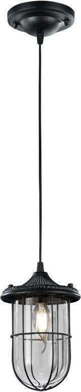 Trio BIRTE 303800102 Pendul cu 1 braț negru excl. 1 x E14, max. 40W H:150cm, D:14,5cm,