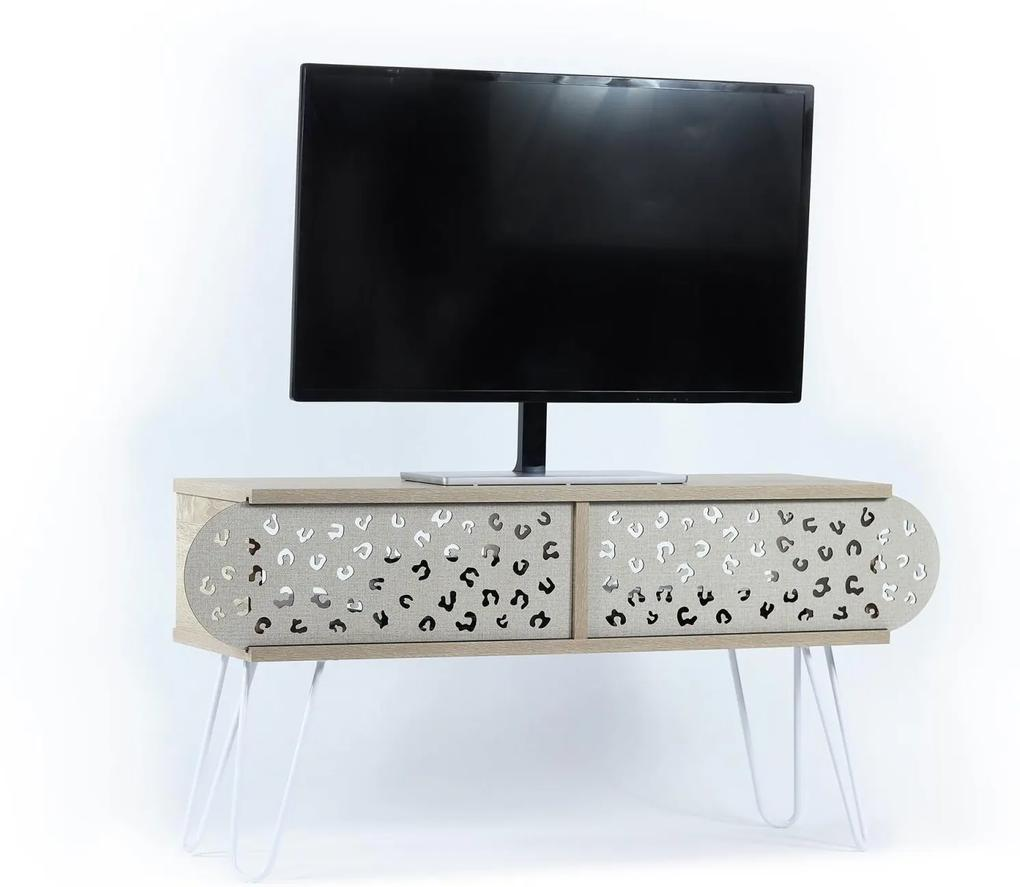 Comoda Tv - Illia  No.3 (Stejar-Alb)