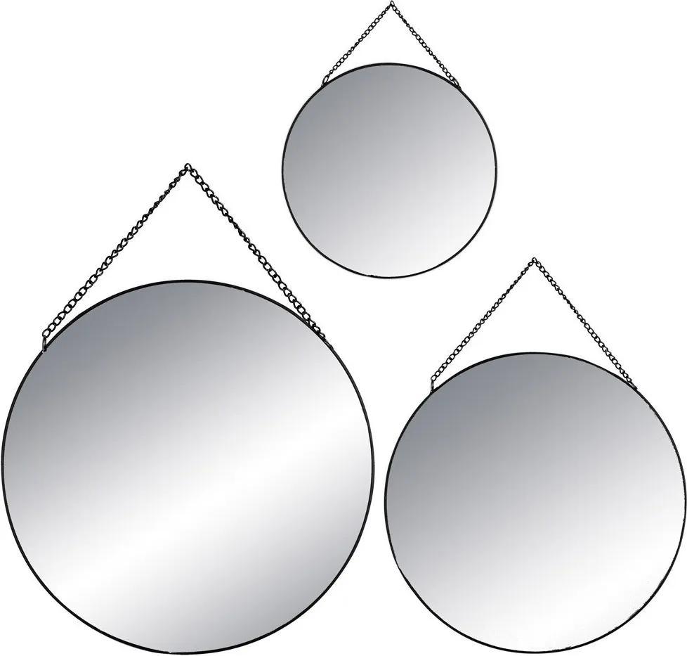 Oglinzi decorative în formă rotundă, set de trei oglinzi suspendate în diferite dimensiuni - Atmosphera Créateur d'intérieur