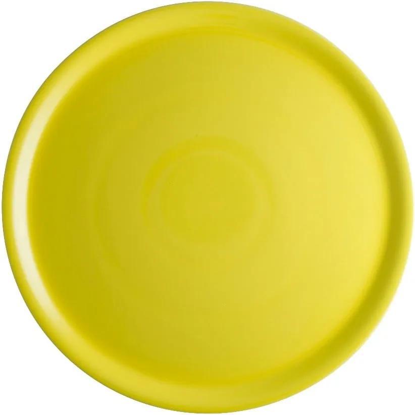 Farfurie din porțelan pentru pizza Brandani Pizza, ⌀ 31 cm, galben