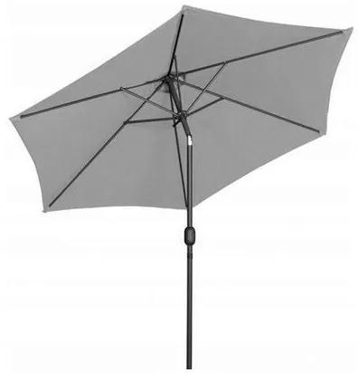 Umbrela de gradina/terasa cu inclinatie, gri, 300 cm