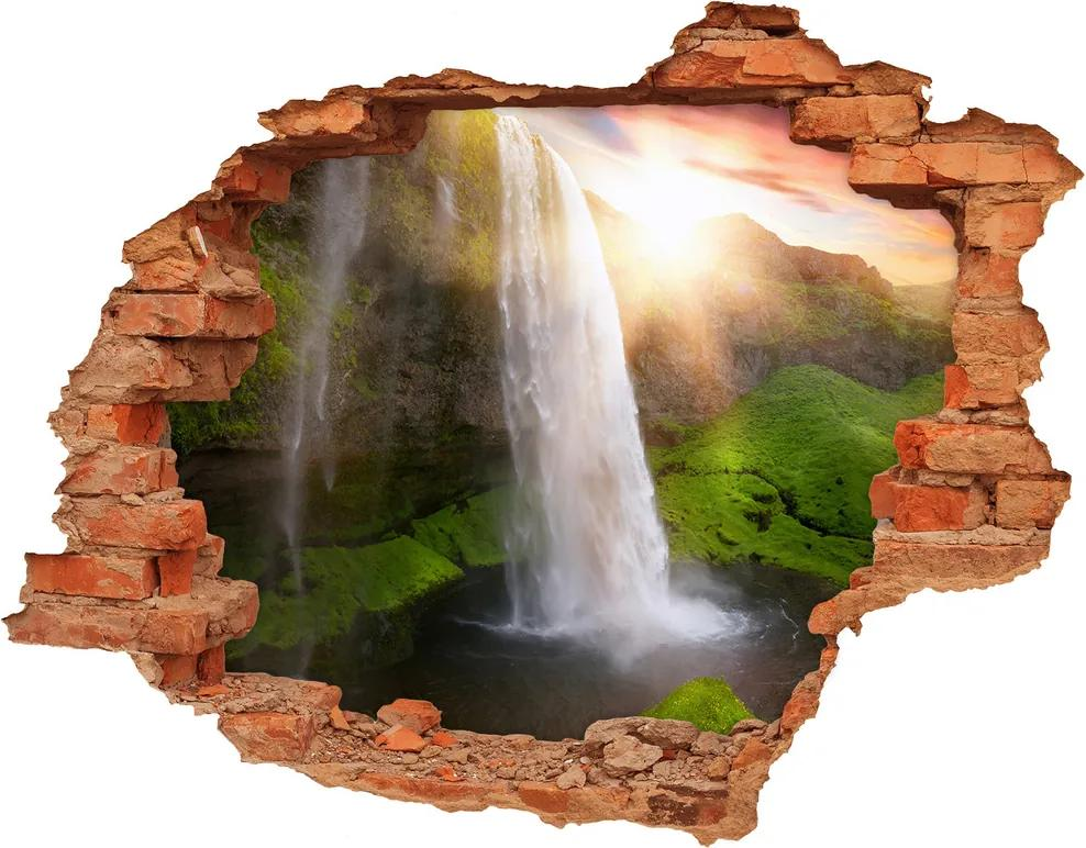 Nálepka fototapety 3D výhľad betón Vodopád