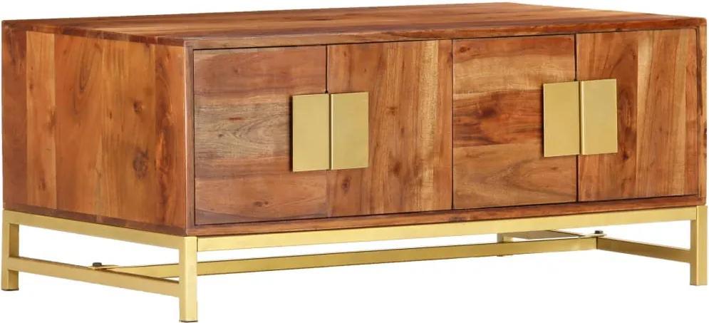 Masuta de cafea, 90 x 55 x 40 cm, lemn masiv de acacia