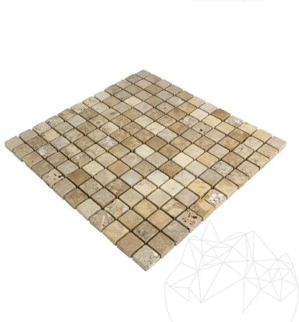Mozaic Travertin Yellow Antichizat 2.3 x 2.3cm
