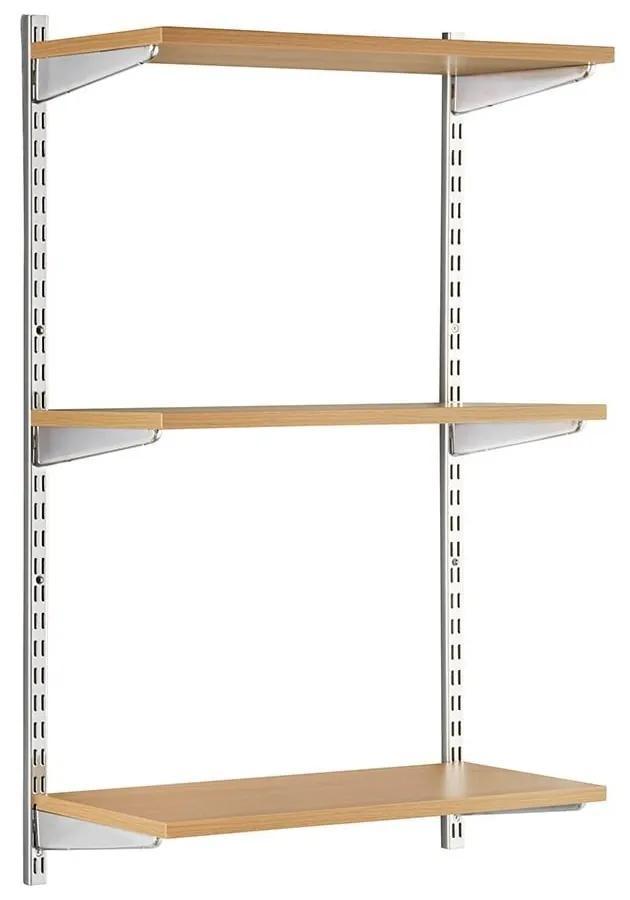 Raft modular Sigma 3P Stejar, 80x20x100 cm, Metal/PAL