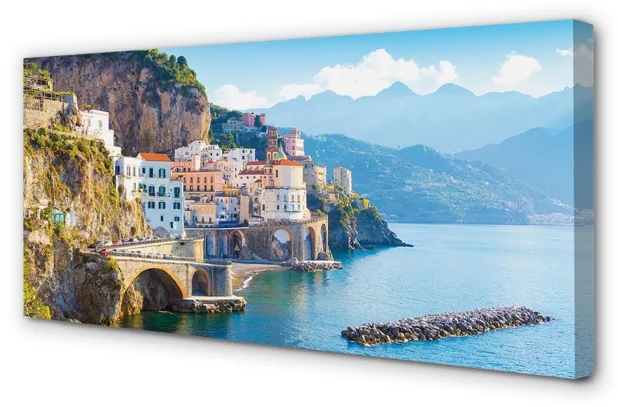 Tablouri canvas Tablouri canvas Italia clădiri coasta mare