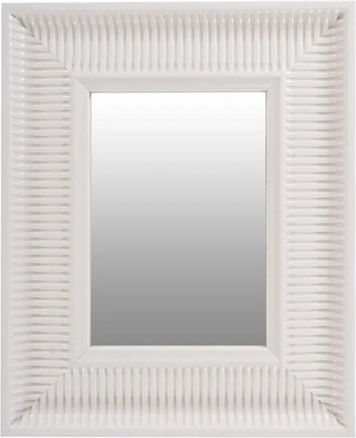 Oglinda dreptunghiulara cu rama din polistiren alba Howard, 49cm (L) x 40cm (L) x 3cm (H)