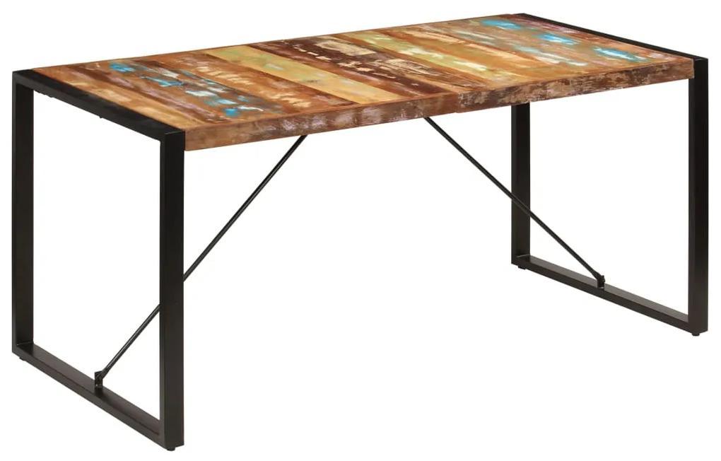 247418 vidaXL Masă de bucătărie, 160 x 80 x 75 cm, lemn masiv reciclat