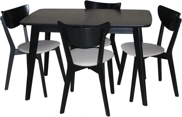 Set Masa Extensibila Modern Lemn cu scaune tapitate