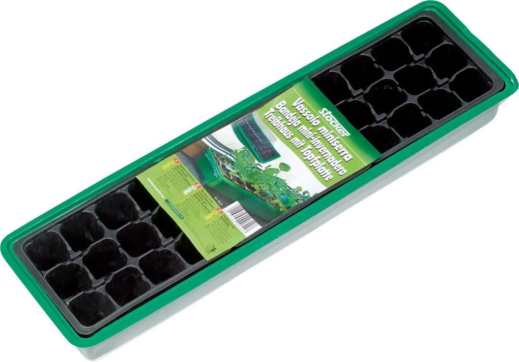 Tavita pentru semanat din plastic Stocker pentru alveole, 3x12 gauri