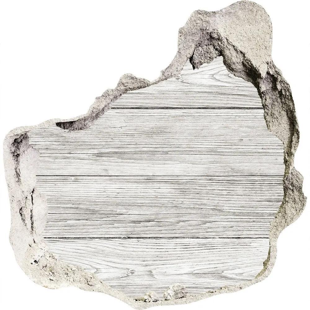 Fototapet un zid spart cu priveliște Fundal de lemn