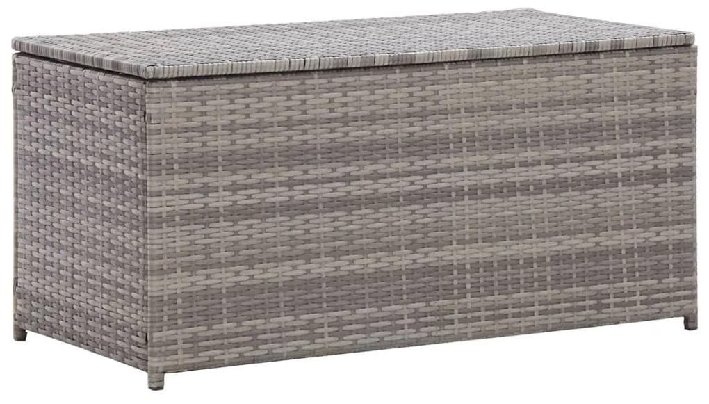 46473 vidaXL Ladă de depozitare de grădină, gri, 100x50x50 cm, poliratan