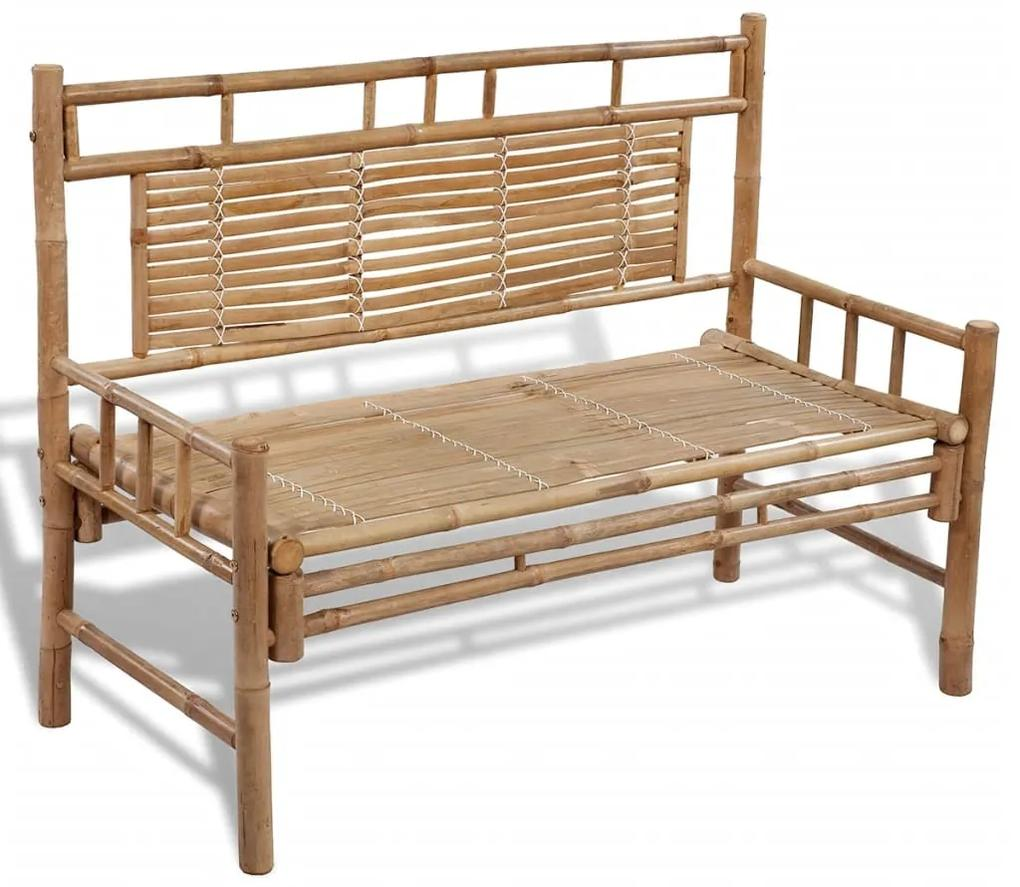 41504 vidaXL Bancă grădină din lemn de bambus