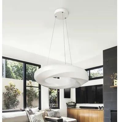 Pendul cu LED integrat Gisele 24W 2150 lumeni, alb