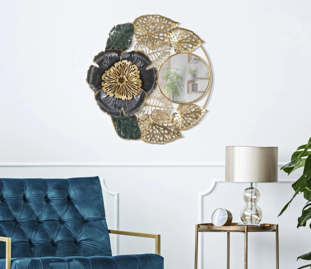 Oglinda de perete Bunga, fier oglinda MDF, 72X5.5X74 cm