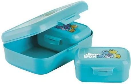 Cutie de gustări Tescoma Dino 3 bucăți, albastru