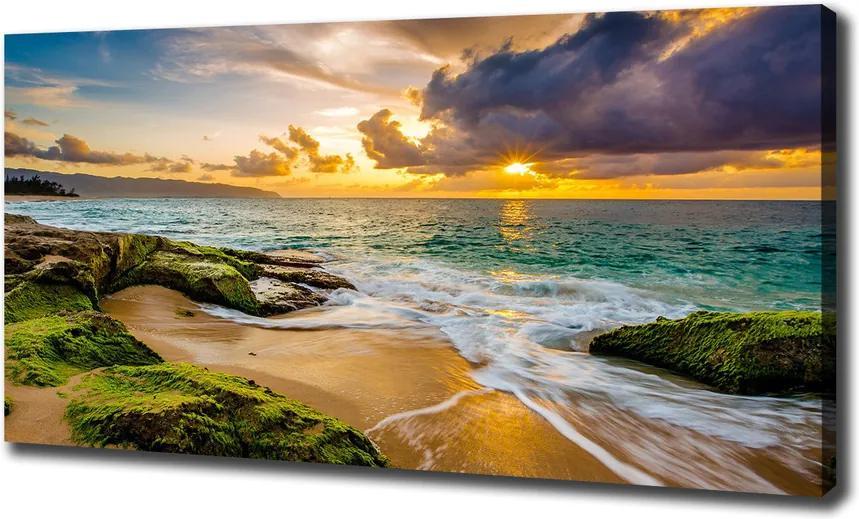 Tablouri tipărite pe pânză Apus de soare pe mare