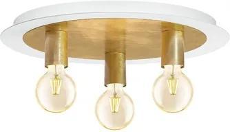 Plafoniera Passano E27 3x4W, becuri LED incluse, auriu