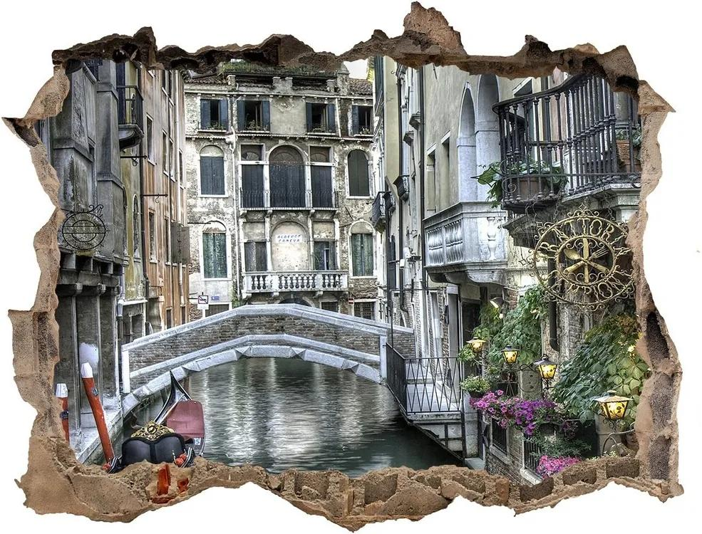 Autocolant 3D gaura cu priveliște Veneția italia