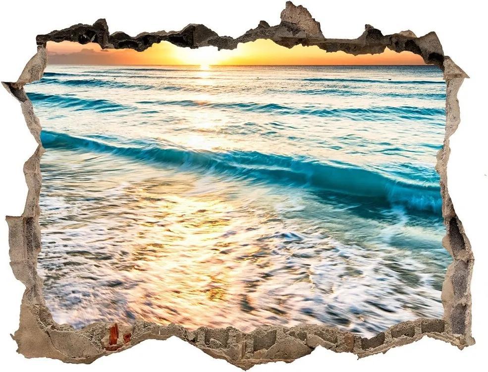 Autocolant un zid spart cu priveliște Sunset beach