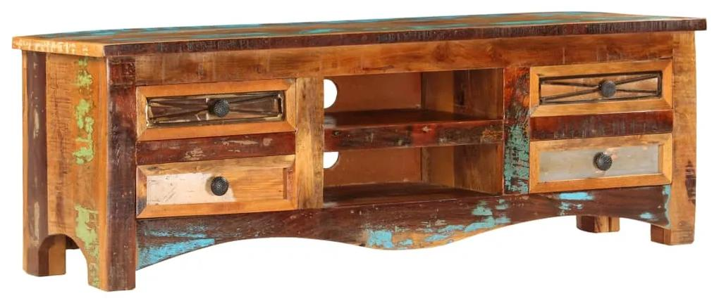 247516 vidaXL Comodă TV, 120 x 30 x 40 cm, lemn masiv reciclat