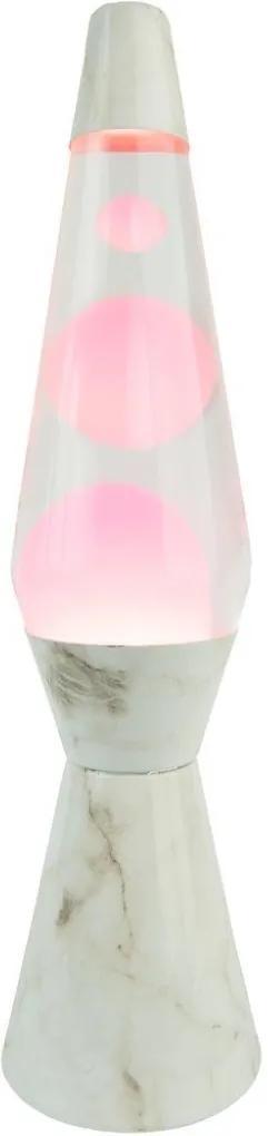 Lampa lavă Bullet  - Marmură / Roz