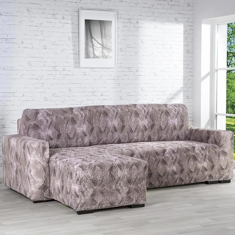 GA.I.CO Huse bielastice ASTRATO maro canapea cu otoman stânga (l. 170 - 200 cm)