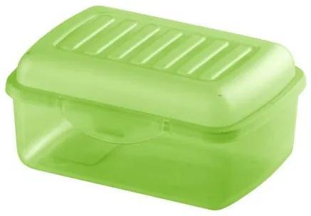 Recipient alimente 300ml, transparent verde Nela