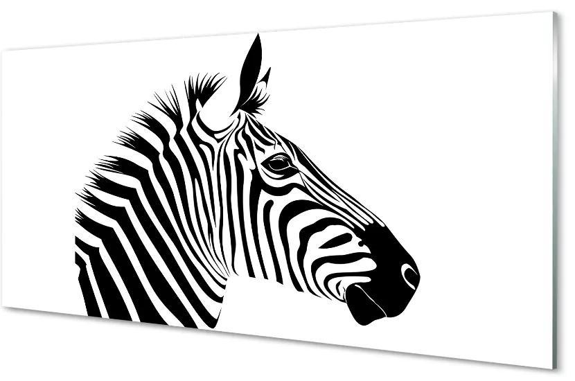 Tablouri pe sticlă Ilustrarea zebră