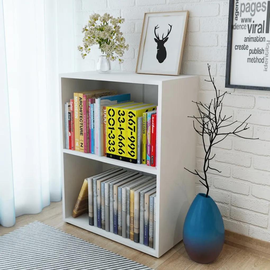 244878 vidaXL Raft pentru cărți, alb, 60 x 31 x 78 cm, PAL