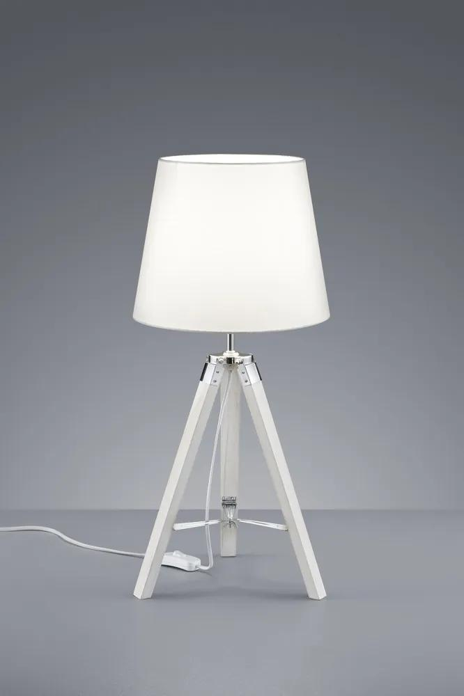 Trio TRIPOD R50991001 Veioze, Lampi de masă alb alb excl. 1 x E27, max. 40W H:57,5cm, D:26cm