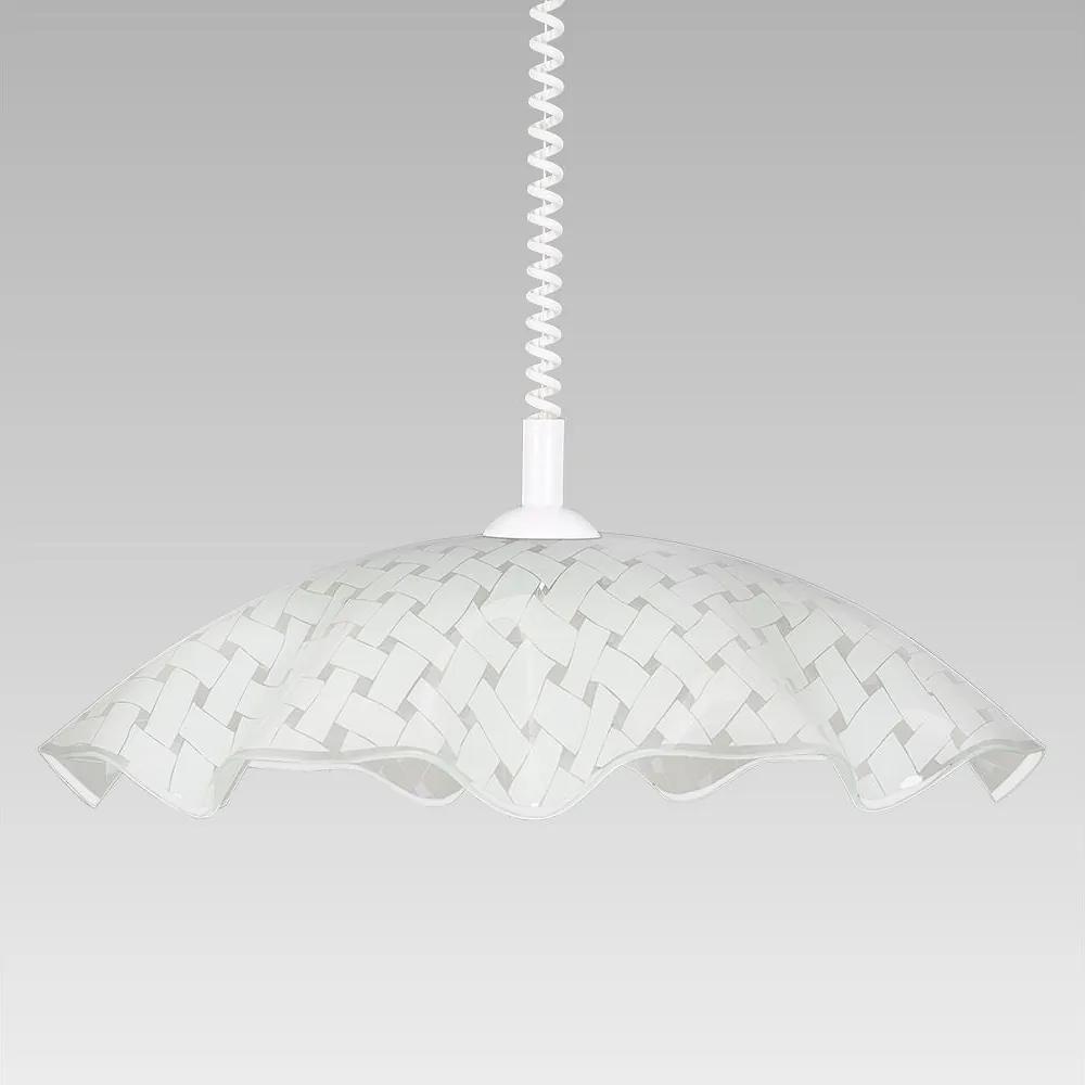 Luxera 45127 - Lampa suspendata WHITE TATRAN E27/60W
