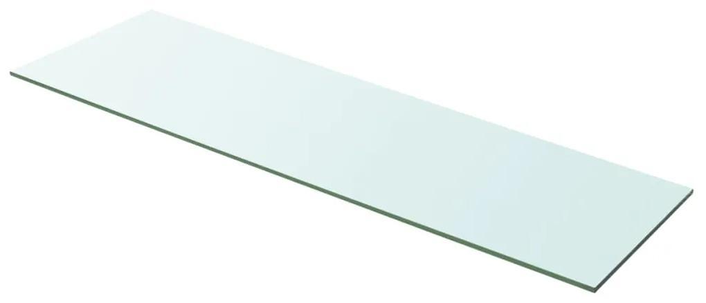 243846 vidaXL Raft din sticlă transparentă, 100 x 30 cm