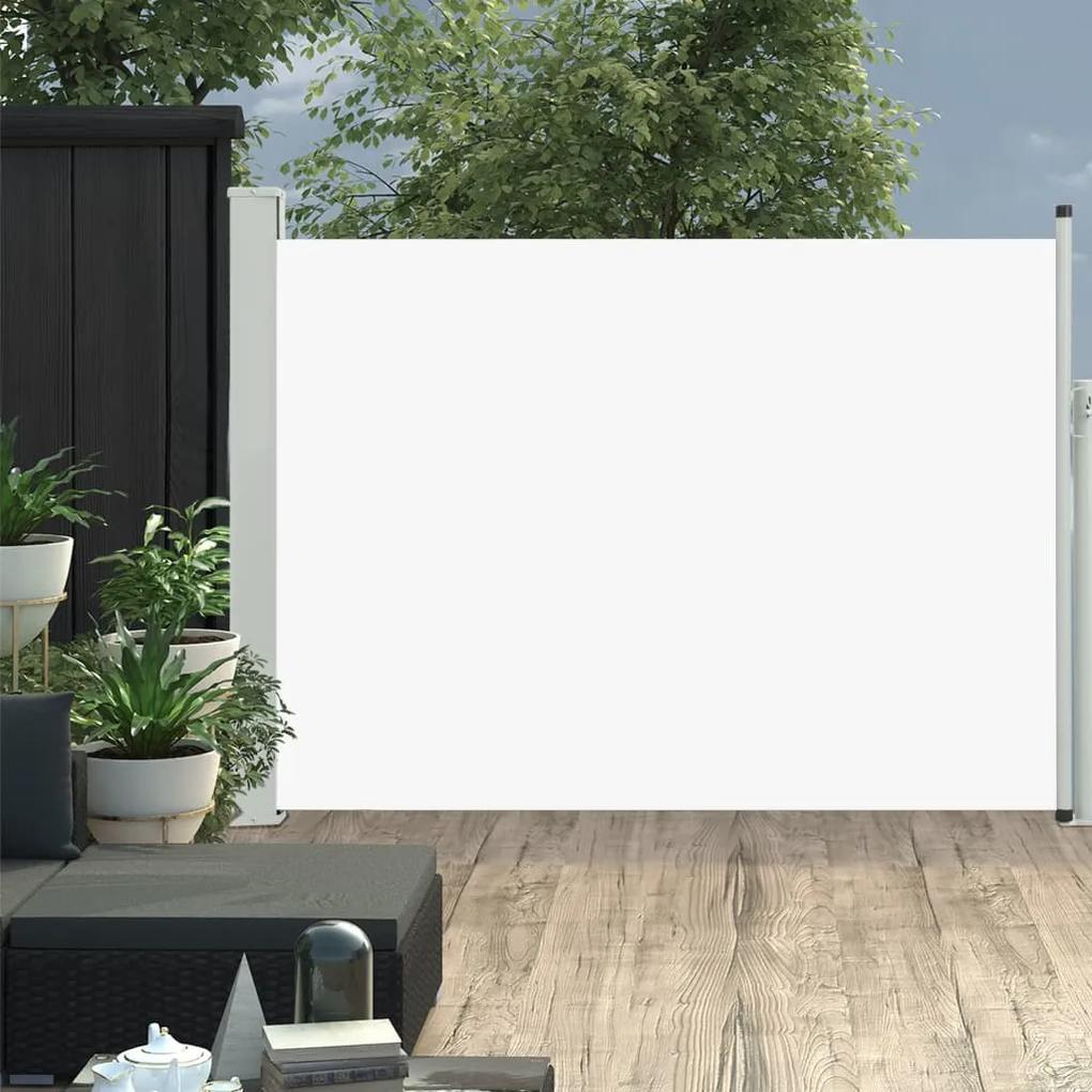 48389 vidaXL Copertină laterală retractabilă de terasă, crem, 120 x 500 cm
