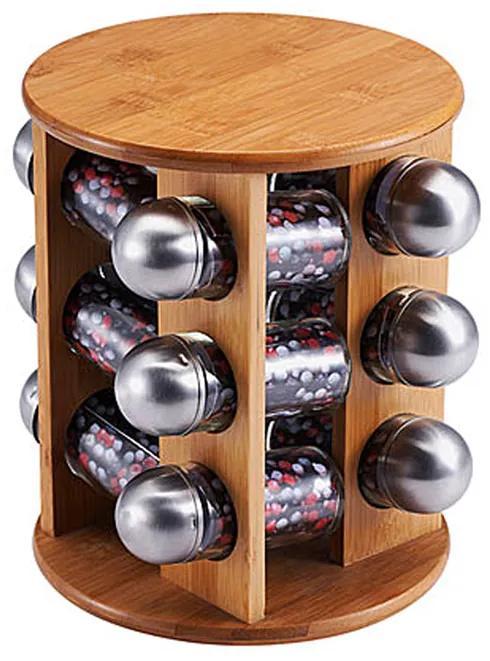 Set 12 recipiente pentru condimente si suport rotativ Berg