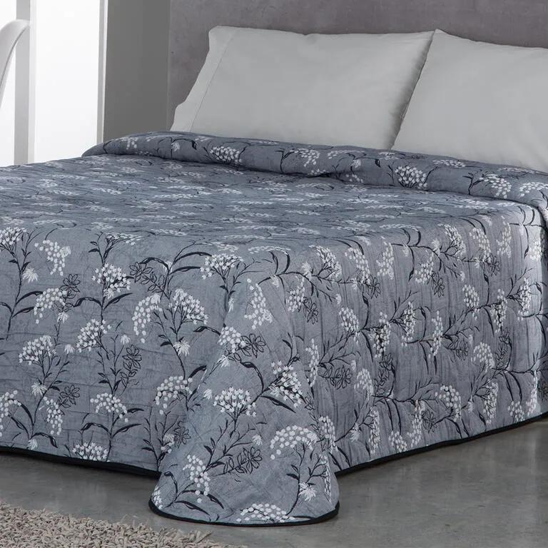 Cuvertură de pat SOCORRO, gri-albăstrui pat simplu
