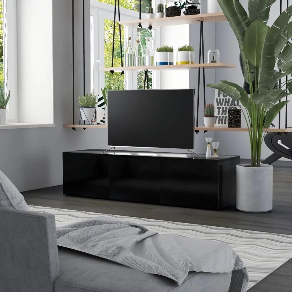 801869 vidaXL Comodă TV, negru, 120 x 34 x 30 cm, PAL
