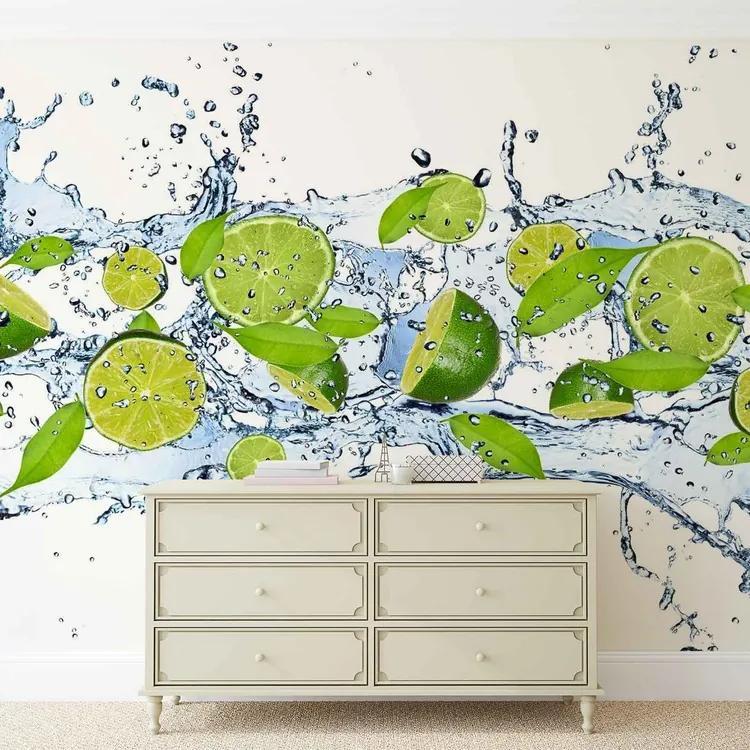 Limes Water Fototapet, (152.5 x 104 cm)
