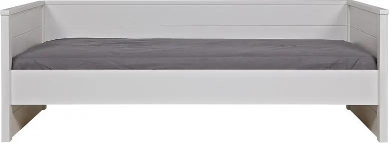 Pat/Canapea din pin alb Jade, 74x209x100 cm